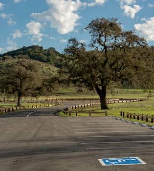Accessible parking spot at Coyote Valley Open Space Preserve